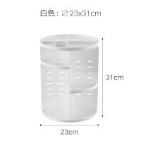 日式化妆品收纳盒桌面置物架子旋转亚克力梳妆台护肤品口红整理盒