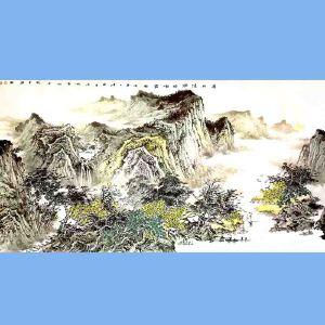 北京国画艺术家协会会员,广西省美协会员卫长林(春山清润映朝霞)