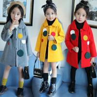 儿童毛呢大衣秋冬季2018新款韩版洋气中大童公主呢子外套女孩