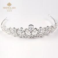 儿童皇冠发饰公主皇冠发箍珍珠水钻头箍演出发饰花童头饰女孩