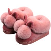 儿童棉拖鞋包跟冬季1-3岁毛绒家居鞋室内保暖宝宝棉鞋