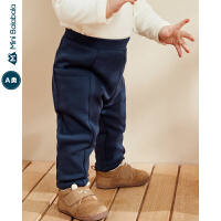 迷你巴拉巴拉婴儿裤子男女宝宝加绒保暖长裤2019冬新款宽松落档裤