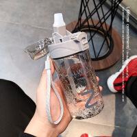 创意个性吸管水杯大人ins风夏季男女学生塑料杯简约潮流随手杯子