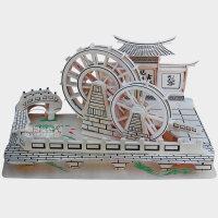木质木头积木成人木质拼图立体3d模型大型房子手工拼装玩具