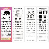 视力表加厚款卡通儿童版图形视力表身高贴对数视力表