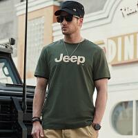 Jeep/吉普官方正品圆领短袖T恤P212MKT035