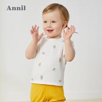 【2件3折价:32.1】安奈儿童装婴童T恤纯棉2020新款俏皮活力男女宝宝圆领短袖上衣夏