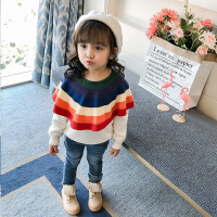 儿童秋冬季加绒毛衣2018新款毛衫针织套头宝宝上衣女孩