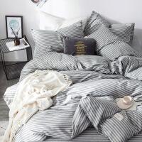 全棉简约四件套纯棉网红1.8m床单被套1.5m双人床上用品被子三件套