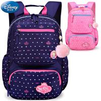 迪士尼儿童书包 6-12周岁女生小学生书包女生1-3-6年级双肩背包