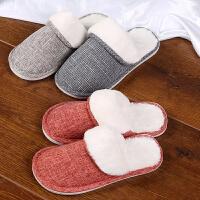 棉拖鞋女秋冬季情侣居家居室内防滑家用厚底保暖月子鞋新款男