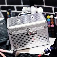韩式专业铝合金化妆包手提多层大容量化妆箱美甲工具护肤品收纳包