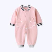 婴儿连体衣春秋新生儿衣服初生0-3个月6男宝宝爬服春款