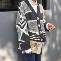 毛衣外套女2019秋冬韩版学生长袖慵懒风针织衫开衫上衣女