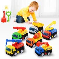 儿童玩具车男孩回力车惯性小汽车 挖掘机挖土机 工程车套装各类车