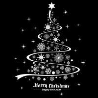 商场店铺橱窗店面布置用品玻璃门贴纸圣诞树墙贴圣诞节装饰品贴画 C款 SD6304