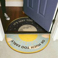 【进门地垫】早出晚归北欧大门入户门口蹭脚垫家用半圆门垫地毯
