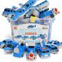 益智拼装积木磁力片车组合男女孩4-6周岁百变海陆空儿童磁铁玩具