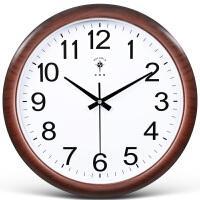 万年历电子钟挂钟客厅 北极星电子挂钟客厅万年历现代简约挂墙时钟静音石英钟表挂表家用 16英寸(直径40.5厘米)