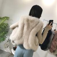 皮草马甲女士2019春秋新款大码时尚显瘦毛毛背心短款仿外套