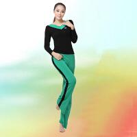 广场舞服装套装瑜伽服女拉丁舞服装长袖跳舞演出运动服秋冬新款