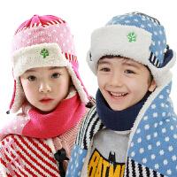 儿童帽子冬男女童帽宝宝帽子秋冬款小孩帽子护耳毛线帽潮2-4-8岁