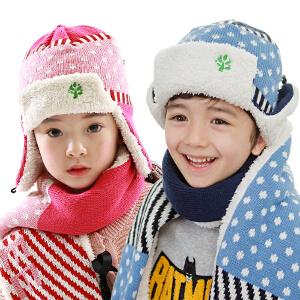 kk树儿童帽子冬男女童帽宝宝帽子秋冬款小孩帽子护耳毛线帽潮2-4-8岁