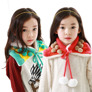 韩国kk树儿童围脖秋冬宝宝保暖加绒围脖女潮版小孩围脖儿童披肩