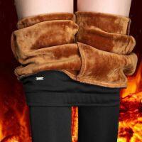 秋冬加肥加大外穿黑色打底裤高腰收腹弹力女裤