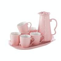 陶瓷冷水壶套装欧式大容量家用凉水壶茶壶茶具水杯水具杯子套装