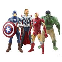 复仇者联盟 钢铁侠绿巨人模型 雷神美国队长玩具 可动人偶 复仇者联盟人偶4款,均高20CM