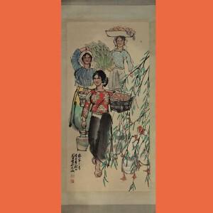 乡下回收的老画中国当代著名人物画家,国家一级画家史国良(傣家三月)24