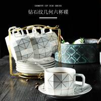 欧式咖啡杯套装家用红茶杯英式下午茶茶具简约日式咖啡杯碟套具