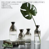 北欧ins风 个性创意家居装饰品摆件房间卧室客厅桌面透明玻璃花瓶