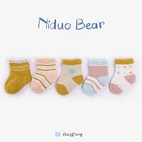 2018新款女宝宝袜子棉秋冬 小孩童袜婴儿袜儿童棉袜0-3岁