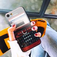 �O果6玻璃手�C�ょR面后���性��意潮iphone8plus/7/6s/x套�Z基��防摔社��人抖音同款外��