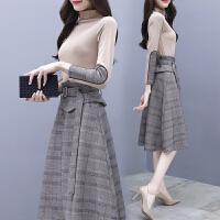 连衣裙秋装女2018新款法式少女茶歇裙子秋季套装裙两件套气质时髦