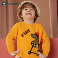 迷你巴拉巴拉女童毛纱2020秋季新款儿童甜美上衣卡通动物衣服