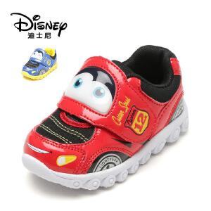 【达芙妮集团】迪士尼 春秋卡通男童鞋便利魔术贴儿童灯鞋