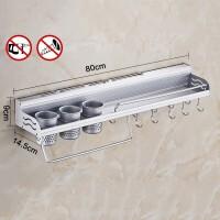 免打孔不锈钢多功能置物架 厨房置物架筷子调料罐瓶子收纳架 如图