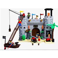 启蒙军事狮王城堡骑士兼容乐高拼装积木塑料拼插益智儿童玩具男孩