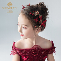 儿童头饰红色发夹发饰可爱唯美拍照森女韩式女孩饰品