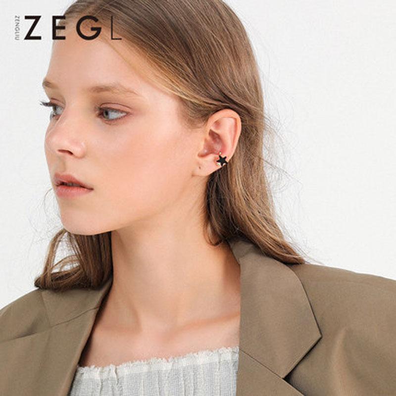 女士简约清新耳钉个性潮人耳饰夹耳式耳环耳夹耳骨夹无耳洞