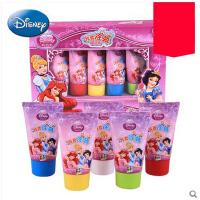 迪士尼儿童手指画颜料安全无毒可水洗宝宝涂鸦画颜料5支5色套装