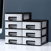 简约小抽屉式收纳箱桌面收纳盒桌上文具柜杂物整理盒子