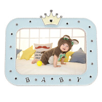卡通可爱儿童宝宝相框摆台创意婴儿周岁金属合金5寸照片相框