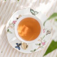 英式下午茶茶具套装复古田园骨瓷咖啡具陶瓷咖啡杯欧式小礼品 1茶壶1糖罐1奶杯6杯碟限量版 15件