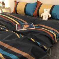 网红款纯色四件套学生宿舍床上用品单人1.5米被子被套床单三件套4