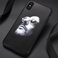 苹果7plus手机壳个性创意8男款6s硅胶保护套iphonex外壳浮雕鲤鱼防摔社会人抖音超薄外壳情侣