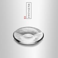 当当优品 圆形加厚玻璃茶托 光阴系列 隔热垫 功夫茶具配件